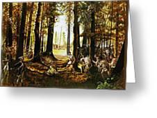 Riflemen At Saratoga Greeting Card