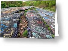 Rift In The Former Route 61 Greeting Card