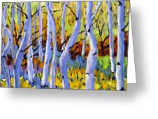 Rigaudon Of Aspens Greeting Card