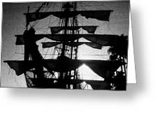 Rigging And Sail Greeting Card