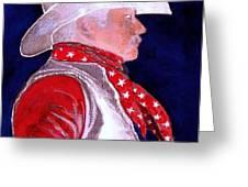 Right Facing Cowboy Greeting Card