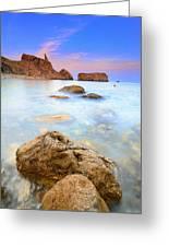 Rijana Beach Mediterranean Sea Greeting Card
