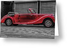 Riley Rmd 1950 Drophead Coupe Greeting Card