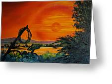 Rim Of Fire     72 Greeting Card