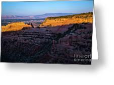Rimrock Sundown Greeting Card