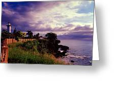 Rincon Lighthouse Puerto Rico Greeting Card by George Oze
