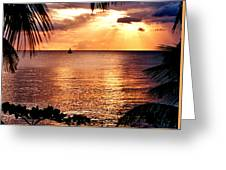 Rincon Sunset Greeting Card by Michael  Cryer