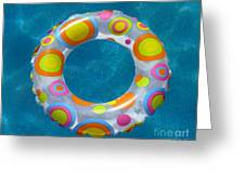 Ring In Pool Greeting Card