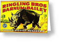 Ringling Brothers Barnum And Bailey Circus Greeting Card