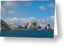 Ringling Causeway Sarasota Skyline West View Greeting Card