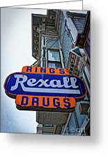 Ring's Rexall Drugs  Greeting Card