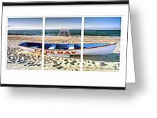 Cape May Beach Scene Series Greeting Card