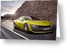 Rinspeed Etos Concept Self Driving Car Greeting Card