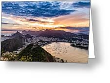 Rio De Janeiro Sunset Greeting Card