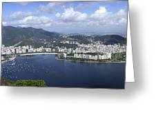 Rio De Janiero Aerial Greeting Card