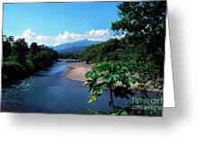 Rio Grande And Blue Mountain Greeting Card