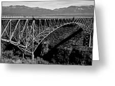 Rio Grande Bridge In New Mexico Greeting Card