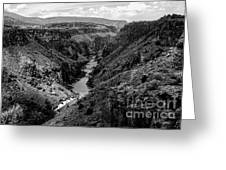 Rio Grande Carved Canyon 2 Greeting Card