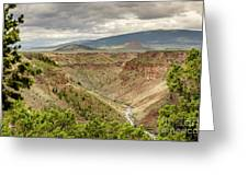 Rio Grande Gorge At Wild Rivers Recreation Area Greeting Card