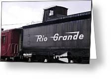 Rio Grande Rail Cars Greeting Card