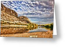 Rio Grande River Oil Painting Greeting Card