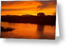 Rio Grande Sunset Greeting Card