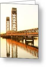Rio Vista Bridge Sunrise Greeting Card by Troy Montemayor