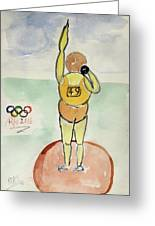 Rio2016 - Shot Putt Greeting Card