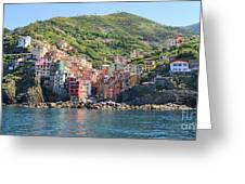 Riomaggiore 0582 Crop Greeting Card