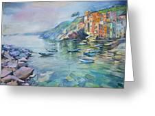 Riomaggiore Cinque Terre Italy Greeting Card