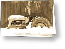 Rip Old Oliver Tractor Greeting Card