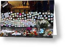 Rip Steve Jobs . October 5 2011 . San Francisco Apple Store Memorial 7dimg8561-1 Greeting Card by Wingsdomain Art and Photography