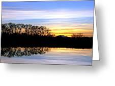 Riparian Sunset No.1 Greeting Card