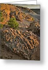 Ripple Boulders At Sunset In Bentonite Quarry Greeting Card