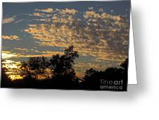 Ripple Clouds At Sunset Greeting Card