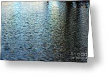 Ripples And Reflections Abstract Greeting Card