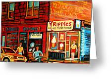 Ripples Ice Cream Factory Greeting Card