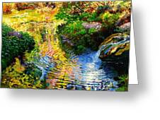 Ripples On A Quiet Pond Greeting Card