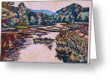Ripples On The Little River Greeting Card