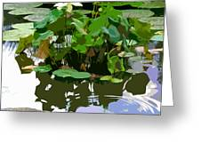 Ripples On The Lotus Pond Greeting Card