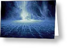 Rippling Waterfall Greeting Card
