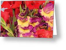 Rising Flowers Greeting Card
