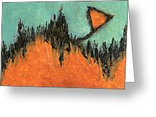 Rising Hope Abstract Art Greeting Card