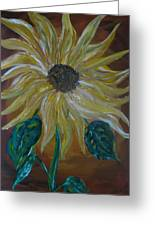 Rising Sunflower Greeting Card