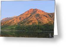 Rising Wolf Mountain At Dawn Greeting Card