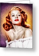 Rita Hayworth, Vintage Actress Greeting Card