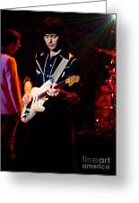 Ritchie Blackmore Super Nova Lighting Effect - Oakland Auditorium 1979 Greeting Card