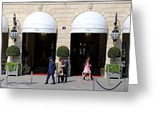 Ritz Hotel Paris Greeting Card