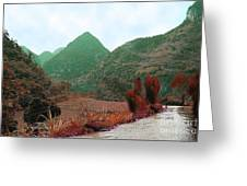 River Above The Valley Greeting Card