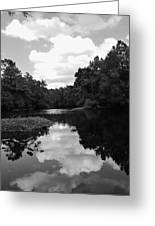 River And Clouds 2 Greeting Card